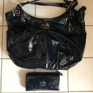 Coach Hobo Patent Leather Bag w/Wallet fall!